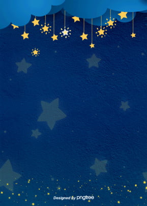 the star decoration background of cartoon fashion cute night , Cartoon, Luminescence, Aestheticism Background image