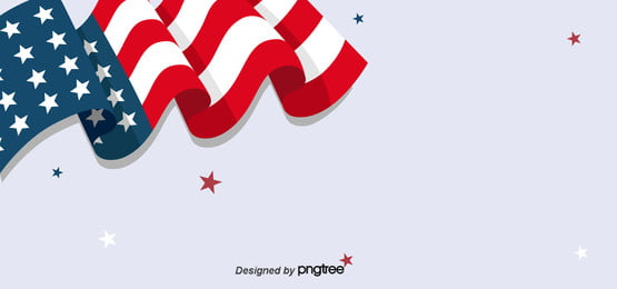 white background of flying american flag