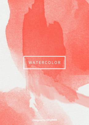 coral red popular colors simple aesthetic vertical watercolor halo background , Creative, Aestheticism, Halo Dyeing Background image