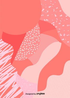 Coral Memphis Geometric element Irregular Element Géométrie Image De Fond