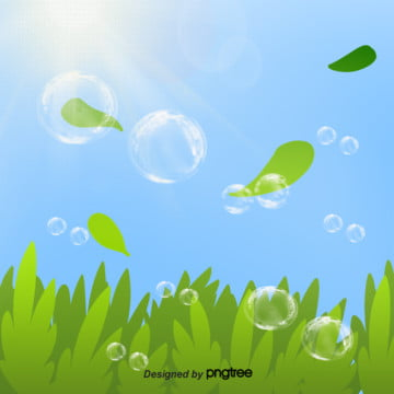 晴天泡泡緑樹の木の葉のアイデア手描きのイラストの背景 , アイデア, 手絵, イラスト 背景画像