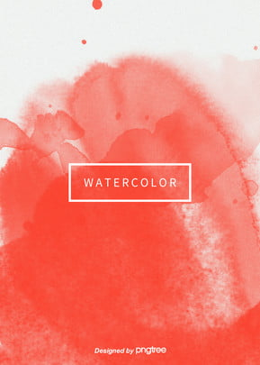 Popular Color Concise Aesthetic Vertical Version Coral Color Watercolor Halo Background, Creative, Colored Ink, Halo Dyeing, Background image
