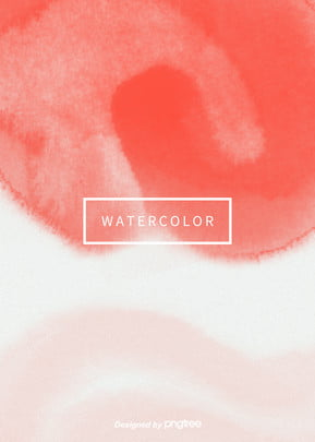 Popular Coral Red White Simple Aesthetic Vertical Watercolor Halo Background, Creative, Aestheticism, Halo Dyeing, Background image