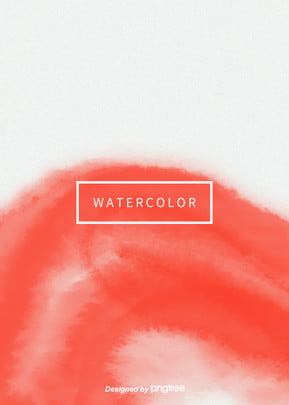 Popular Trend Color Simple Aesthetic Vertical Coral Red Watercolor Halo Background, Creative, Aestheticism, Halo Dyeing, Background image