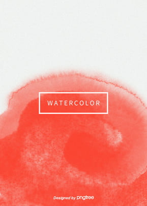 Popular Trend Color Simple Aesthetic Vertical Coral Red Watercolor Halo Background, Creative, Aestheticism, Colored Ink, Background image