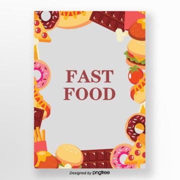 pintadas à mão fundo dos desenhos animados capa de fast   food , Chocolate, Fast Food, Pizza Imagem de fundo