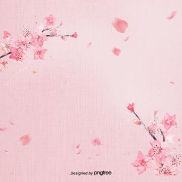 さわやかなピンクの桜の花びらの背景 , 唯美, 日本式, 桜の花 背景画像