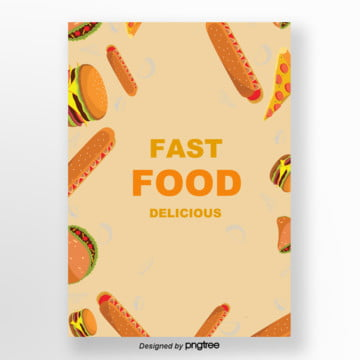 fast food burger fundo simples , Cartoon, Fast Food, Fast Food Background Imagem de fundo