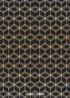 黑金簡約奢華幾何燙金邊線背景 , 幾何, 北歐, 圖案 背景圖片