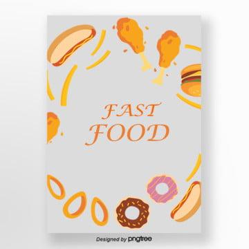 desenhos animados modelo fast food , Cartoon, Fast Food, Pintados à Mão Imagem de fundo
