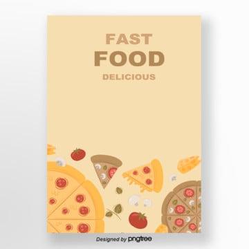 o design minimalista de fundo a cultura do fast food , Cartoon, A, Fast Food Imagem de fundo