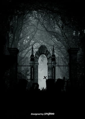 gothic background of the cross of the metro door church in the dark forest tomb , Cross, Gothic, Grave Background image