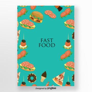 pintadas à mão fundo delicioso fast food , Sorvete, Cartoon, Fast Food Imagem de fundo