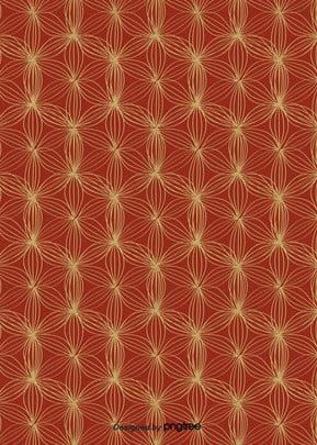 花弁の赤色の抽象的な和風柄の背景 , 幾何学, 図形, 図案 背景画像