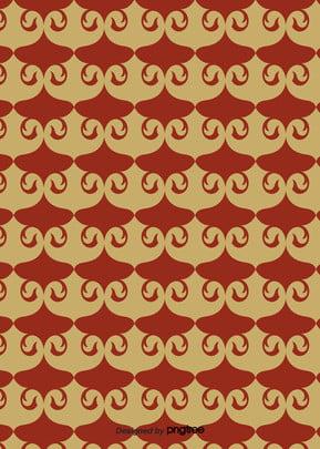 赤の抽象的な和風図柄の背景 , 幾何学, 図形, 図案 背景画像
