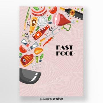 ingredientes por fast food background , Fast Food, Lojas De Fast Food, Fast Food Background Imagem de fundo