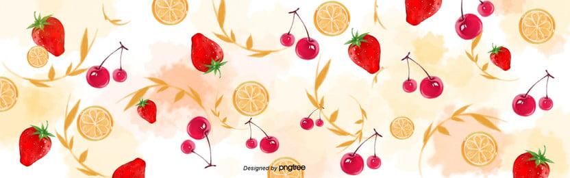 background of green leaf combination of strawberry fruit  lemon and orange , Leaf, Lemon, Branch Background image