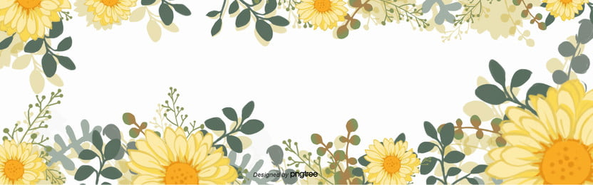 background of yellow flower green leaf daisy sunflower ring , Children, Cartoon, Lovely Background image