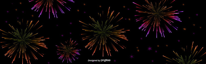 Fogos de artifício fogos de artifício do ano novo no Fundo Preto Linda Splash Color Imagem Do Plano De Fundo