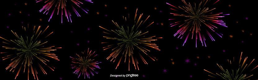 黒い花火の花花の新年の祝日の背景 , かわいい, 飛び散る, カラー 背景画像