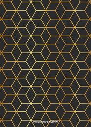 商務簡約黑色金色菱形漸變邊線背景 , 幾何, 北歐, 商務 背景圖片