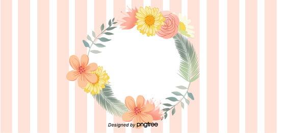 गुलाबी दौर फूल पत्तियों के ग्रीटिंग कार्ड पृष्ठभूमि , प्रोन्नति, सुंदर, पत्ते पृष्ठभूमि छवि