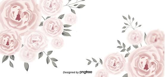 गुलाब गोल्ड  गुलाबी आकर्षक पानी के रंग का पृष्ठभूमि , सुंदर, पत्ते, शादी पृष्ठभूमि छवि