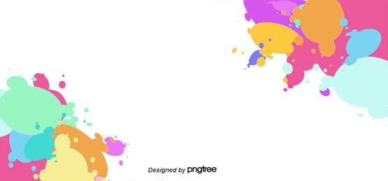 Salpicos de cor de Fundo de comércio As Crianças Cartoon Imagem Do Plano De Fundo