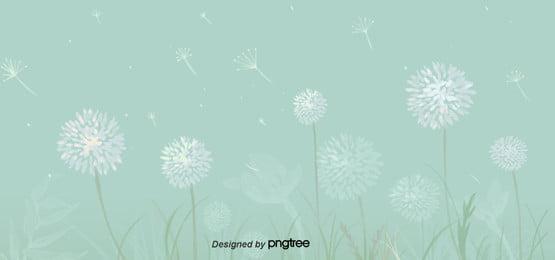 taraxacum nền xanh cỏ mùa xuân , Hoạt Hình, Dễ Thương, Bằng Tay Ảnh nền