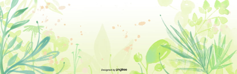 spring hijau tumbuhan semangat dan segar latar belakang , Kartun, Comel, Tangan Dicat imej latar belakang
