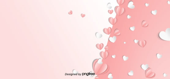 background of pink mothers day heart shaped paper cut effect , Paper-cut, Aestheticism, Heart-shaped Background image