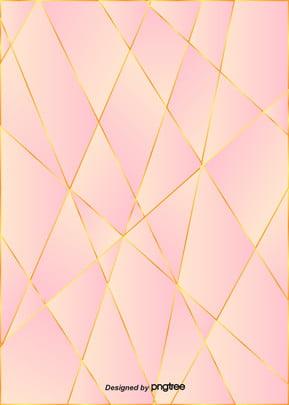 ピンクの簡単な金色のエッジのグラデーションの背景画像 , 幾何学, ぜいたく, だんだん変わっていく 背景画像