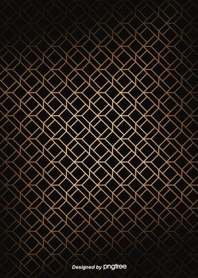 Simple Luxury Geometry Black Golden Edge Background , Geometric, Northern Europe, Pattern Background image