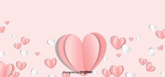 وردي عيد الأم قلب الورق تأثير ثلاثي الأبعاد الخلفية , الورق, جمالية, على شكل قلب صور الخلفية