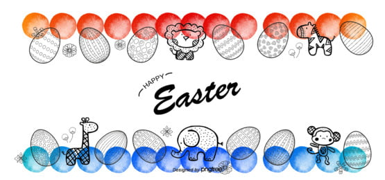 एक सफेद हाथ खींचा शैली रंगीन स्याही अंडे पशु ईस्टर अंडे पृष्ठभूमि , बच्चों, स्याही, ईस्टर पृष्ठभूमि छवि