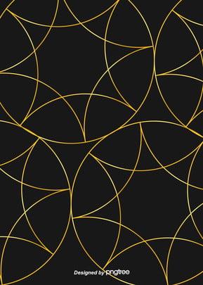 黑色奢華幾何印花金色邊線背景 , 幾何, 北歐, 印花 背景圖片