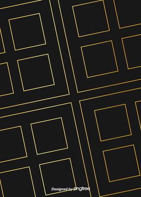 黑色奢華幾何方形金色線條背景 , 幾何, 北歐, 圖案 背景圖片