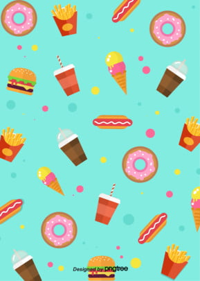 फास्ट फूड हैमबर्गर  हॉट डॉग आलू कोक तत्वों पृष्ठभूमि , आइसक्रीम, सुंदर, कॉफी पृष्ठभूमि छवि