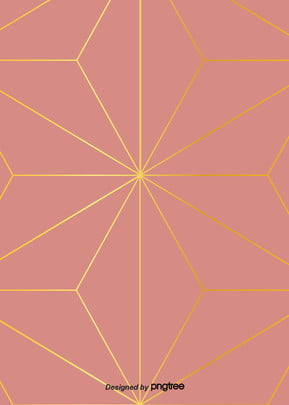 golden gradient line background of pink geometric patterns , Geometric, Northern Europe, Pattern Background image
