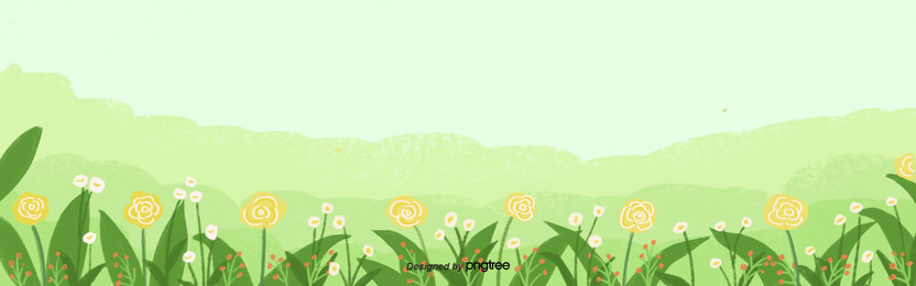 hand painted fresh green spring flower background , Hand Painted, Spring, Soft Pale Background image