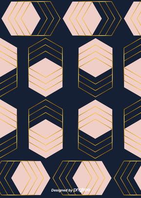 粉色奢華幾何金色邊線背景 , 六角形, 幾何, 北歐 背景圖片