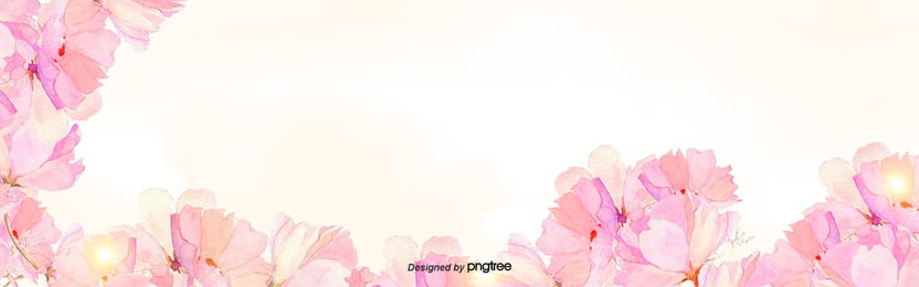 simple and fresh spring pink flower background , Cartoon, Hand Painted, Illustration Background image