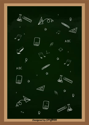 simple chalk pattern blackboard background , Ruler, Thank, Teaching Pattern Background image