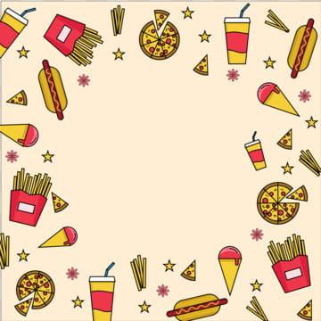 o fast food background vector icon , Sorvete, Bebidas Frias, Fast Food Imagem de fundo
