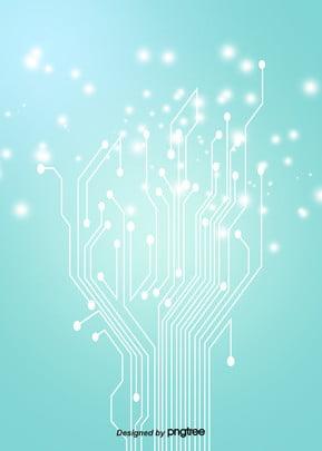 綠色漸變電路光效背景 , 光效, 發光, 商務 背景圖片