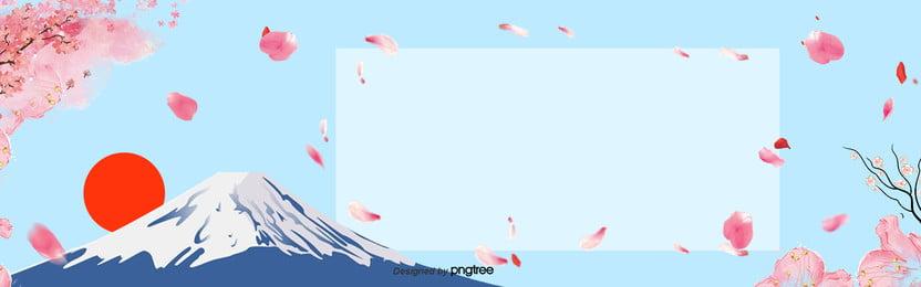 nhật bản  hoa anh đào núi phú sĩ banner , Banner, Mặt Trời, Núi Phú Sĩ Ảnh nền