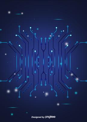 blue gradient business style light emitting circuit background , Luminous Efficiency, Luminescence, Business Affairs Background image