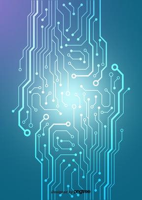 Blue Gradient Luminescence Circuit Background , Luminous Efficiency, Luminescence, Business Affairs Background image