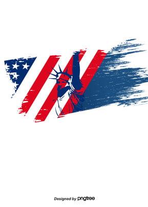 ब्रश ब्लू स्वतंत्रता की प्रतिमा अमेरिकी ध्वज पृष्ठभूमि , रचनात्मक, झंडा पृष्ठभूमि, विंटेज पृष्ठभूमि छवि