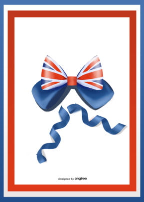 the festival atmosphere of bow ribbon in the background of british flag , National Flag, Coloured Ribbon, Background Background image